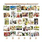 Uping Cadre Photo Mural en Bois, Cadre Photo Pêle-mêle, Décoration Maison et Idée Cadeau...