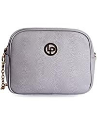 Lino Perros Grey Leatherette Sling Bag