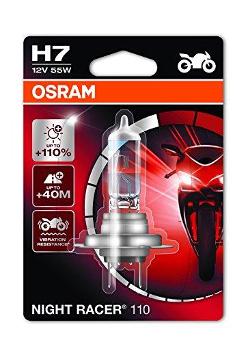 Osram NIGHT RACER 110 H7, Motorrad-Scheinwerferlampe, 64210NR1-01B, 12V, Einzelblister