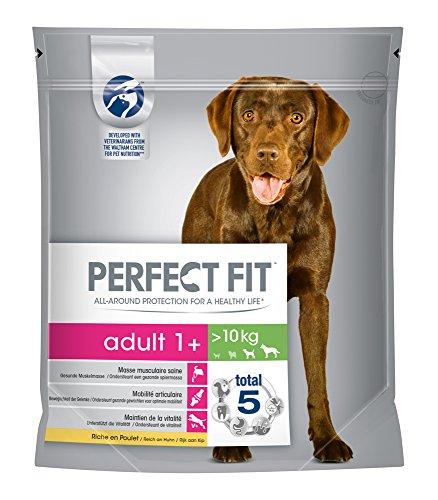 Perfect Fit Hundefutter Trockenfutter Adult für Hunde über 10 kg mit Huhn 1+, 4 Packungen (4 x 1,4 kg)