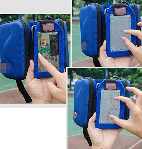 OGTOPBicycle Hartschale Auf Beiden Seiten Der Telefon Tasche Satteltasche Reitausrüstung Touchscreen Black