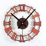 VariousWallClock Wall Clocks Wanduhr Uhren Wecker Uhr Haushalt Pendeluhr Weinlese Alt Sandsteinbeschaffenheit Kreativ römische Ziffern DIY Uhr DIY Wandklebrige Uhr Tabelle C