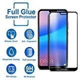 Tempered Glass for Huawei Honor P20 Lite,Premium Oil Resistant Coated Tempered Glass Screen Protector Film Guard for Huawei Honor P20 Lite-Black