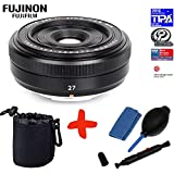 Bundle Fujifilm XF-27mm f2.8 Pancake Lens +Lens Pouch +Lens Cleaning Kit (suitable for X-Pro2 XPro2 X-A1 XA1 X-A2 XA2 X-E2 XE2 X-M1 XM1 X-M2 XM2 X-T1 XT1 X-T10 XT10)