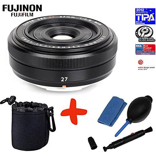 Bundle Fujifilm XF-27mm f2.8 Pancake Lens +Lens Pouch +Lens Cleaning Kit (suitable for X-Pro2 XPro2 X-A1 XA1 X-A2 XA2 X-E2 XE2 X-M1 XM1 X-M2 XM2 X-T1 XT1 X-T10 XT10)