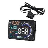 Latinaric Universale A8 5.5 pollici colorato HUD multifunzione Head Up Display auto con OBD2 Plug velocità di riscaldamento bussola km/h