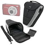 DURAGADGET Funda para Cámara Polaroid DGT IS529, Sony DSC-RX100 V, Canon IXUS 285 HS, Inkint 24,0, Kodak Pixpro AZ251, Panasonic DMC-LX100EGK - con Banda para Cinturón