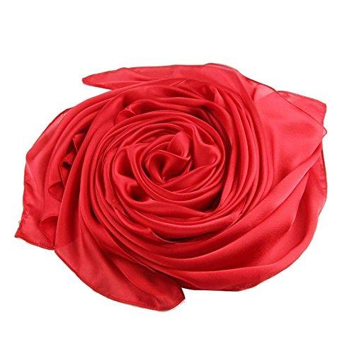 Wgwioo Scarf Lady Silk Satin schal einfarbig warme weiche schals. 2 stück. 180 * 90cm 10 180 * 90cm