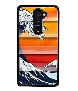 PrintVisa Designer Back Case Cover for LG G2 :: LG G2 Dual D800 D802 D801 D802TA D803 VS980 LS980 (Lehar Sea Ocean Water Water)