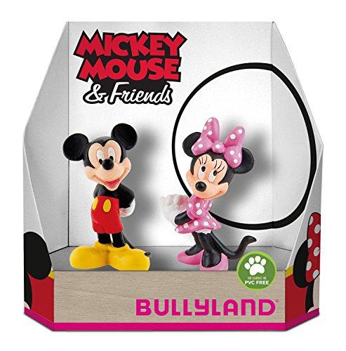 Bullyland 15083-Disney Mickey y Minnie Classic en caja de regalo parte Figura set, 2piezas