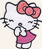 Hello Kitty - Candy pink - Aufnäher Patch Aufbügler Bügelbild