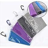 Linggt asciugamano in microfibra raffreddamento per atleti, collo, sport, fitness, testa, running, hiking, palestra, allenamento, Black