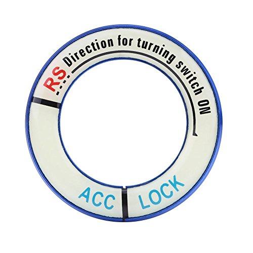 Zündungsschalter Zündschlossabdeckung Auto Licht Zündschalter Ring Kreis Schlüssel Loch Abdeckung Trim(Blue) -