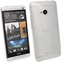 igadgitz Claro Case TPU Gel Funda Cover Carcasa para HTC One M7 Android Smartphone + Protector de pantalla