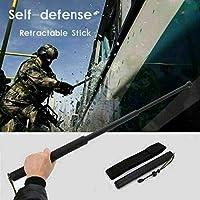 GXOB Herramientas de autodefensa de Bolsillo retráctil para Exteriores Palillo telescópico de Tres Secciones