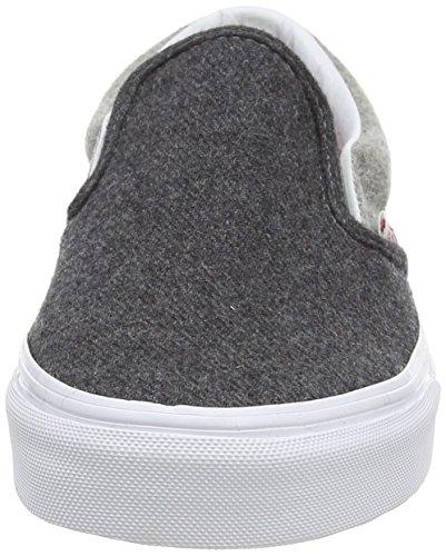 Vans U CLASSIC SLIP-ON Unisex-Erwachsene Sneakers Grau ((Wool Sport) pewter/gray)