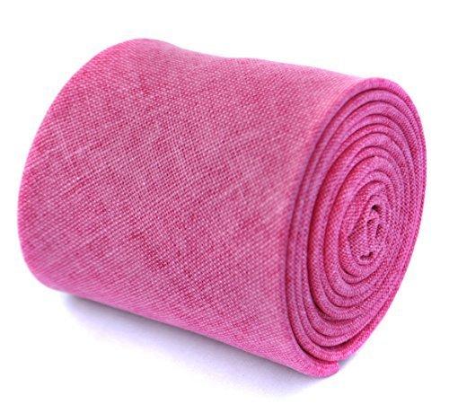 frederick-thomas-plain-bright-pink-textured-linen-tie