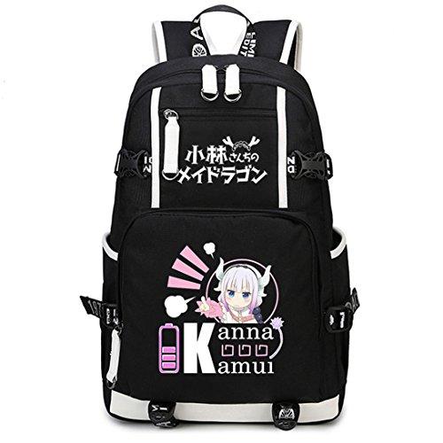 Sport Fans Kostüm Crazy - YOYOSHome Anime Miss Kobayashi's Dragon Maid Cosplay College Bag Bookbag 16