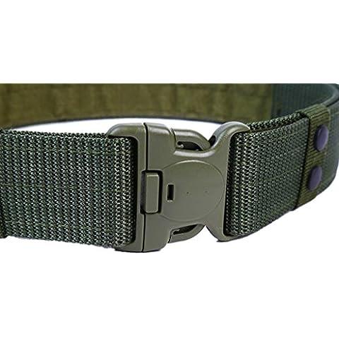 ALAIX 5.5CM del estilo militar de nylon los hombres de la correa ajustable táctico correa de rescate hebilla