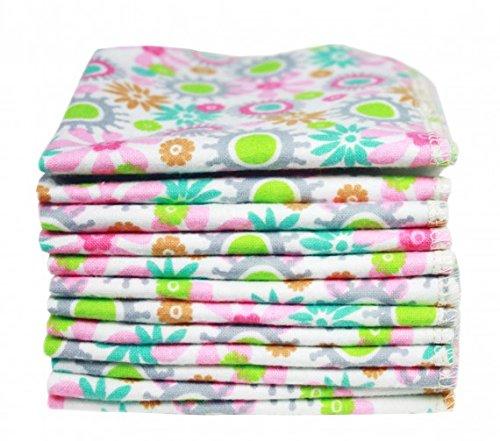 ImseVimse 12er Waschlappen Pack kbA Baumwolle Modell: Flowers (Pack Waschlappen)