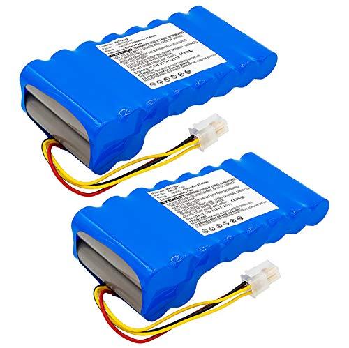 subtel 2X Premium Akku (18V, 5200mAh, Li-Ion) kompatibel mit Husqvarna Automower 320, 330X, 420, 430, 520 580 68 33-01, 580 68 33-02, 589 58 52-02 Ersatzakku Batterie Werkzeugakku