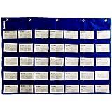 École Support pour cartes POCHE Tableau d'alphabétisation Carte Deluxe poches mur Tableau d'apprentissage matériaux