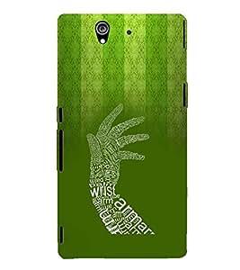 PrintVisa Designer Back Case Cover for Sony Xperia Z :: Sony Xperia ZC6603 :: Sony Xperia Z L36h C6602 :: Sony Xperia Z LTE, Sony Xperia Z HSPA+ (Quote Love Heart Messages Crazy Express Sorry )
