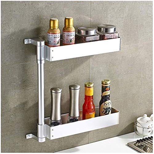 Ddshelf scaffale verticale scaffale da cucina scaffale a muro spazio portaspezie in alluminio multifunzione (dimensioni : 2tier)