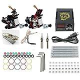 Komplett Tattoo Maschine Kit Set 2 Profi Tattoo Maschine Guns Liner Und Shader Komplett-Set Tattoo-Zubehör