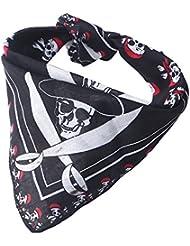 14unidades Piratas Bandana Cabeza paños   pirata Toalla bufanda para pirata Party   cabeza para Halloween Navidad Disfraz Fiesta en   pirata fijo Cumpleaños Tema Fiesta, negro