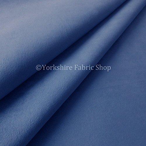 Designer Plain Mid Blu Velluto Morbido Pile Texture tappezzeria Grade ideale per Sedie Tende Crafts nuovo tessuto