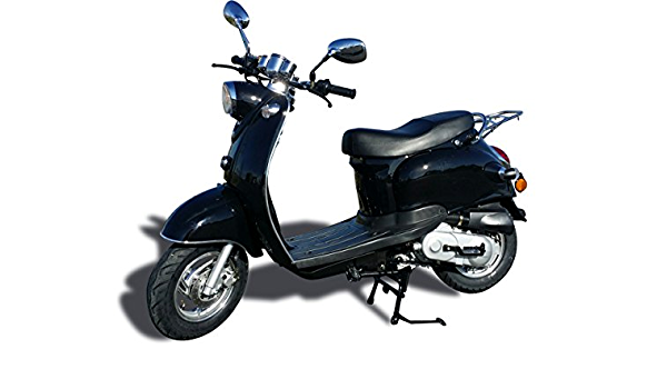 50cc Scooter Yiying YY50QT-15 Black : Amazon.co.uk: Automotive