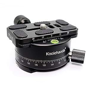 Koolehaoda Professional 360 ° Panorama Kopf mit Universal 70mm Schnellwechselplatte für DSLR Kamera Canon Nikon Sony Stativ