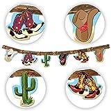 7ft Sombrero de cowboy Botas Banner Bunting Wild West colgantes. Woody Fiesta línea de baile País Western Decor