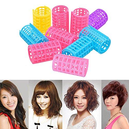 CkeyiN ®6pcs Kunststoff Hair Styling Roller Lockenwickler Clips, 36x68mm (D * H)