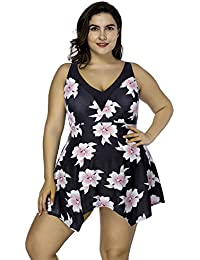 Lover-Beauty Conjunto Bikini Mujer Dos Piezas Estampado Falda Verano para Playa Ropa de Baño
