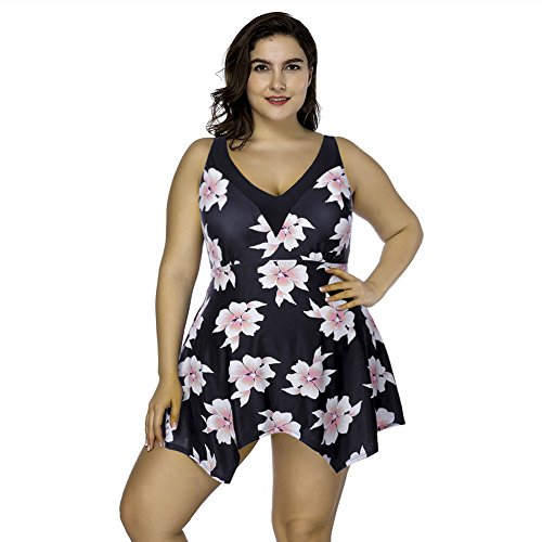 Damen Sportlich Tankini Top Bandeau Bikini Sets Zwei Stück Beachwear Gepolstert Badeanzug (Badeanzug Neckholder Gepolsterter Tankini)