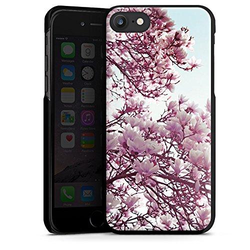 Apple iPhone X Silikon Hülle Case Schutzhülle Blätter Blüten Frühling Hard Case schwarz