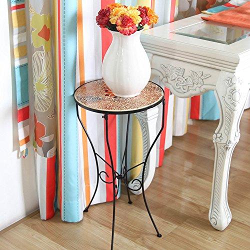 Flower Stand PHTW HTZ Europäischen Stil Eisenboden Einschicht-Blumen-Rack, Wohnzimmer Tisch,...