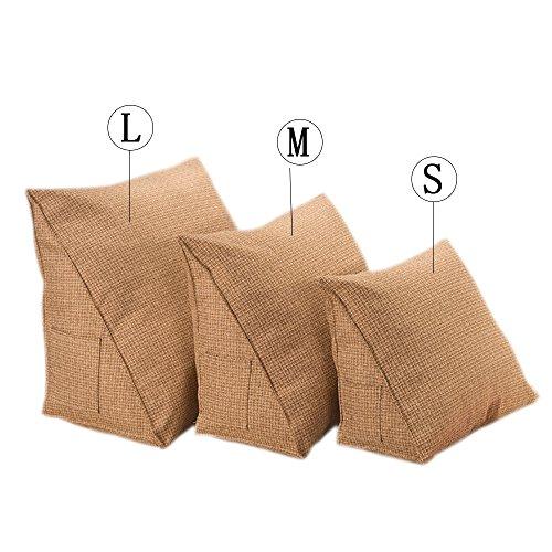Keil Stützkissen (Weich Komfort Zurück Keil Kissen Stützkissen Dekokissen Sofa Bett Büro Stuhl Restkissen Taillenstützkissen (L, Kaffee))
