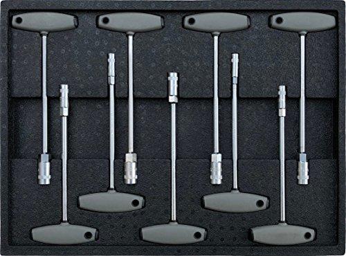 Werkzeugeinleger mit T-Griff Steckschlüssel Satz für z.B. Werkstattwagen