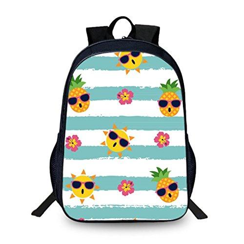 Ananas Print Schultasche Junior Mädchen Casual Bag Reisetasche