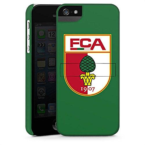 Apple iPhone X Silikon Hülle Case Schutzhülle FC Augsburg Fanartikel Fußball Premium Case StandUp
