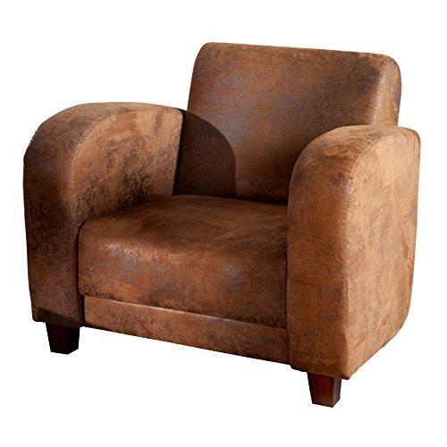 Havanna Lounge (Eleganter Lounge Sessel HAVANNA LOUNGE Pilotenleder braun Ledersessel Polstersessel)
