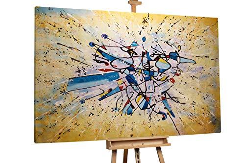 'Erhabenheit' 120x180cm | Abstrakt Bunt Gelb XXL | Modernes Kunst Ölbild