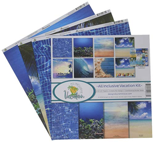 """Unbekannt Reminisce Collection Kit 12\""""X12\""""-All Inclusive Vacation"""