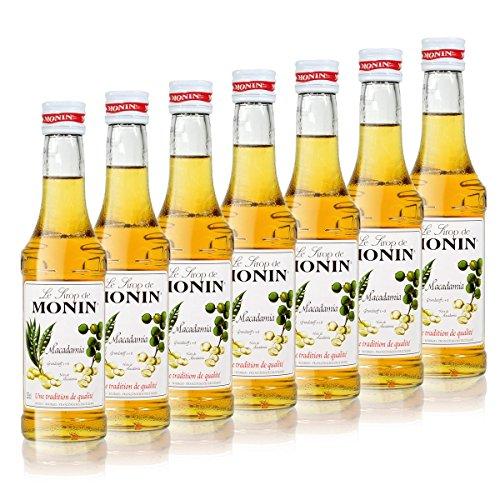 7x Monin Macadamia Sirup, 250 ml Flasche