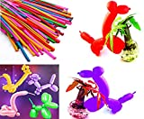 STAR-LINE 100 Modellierballons Bunte Luftballons max.100cm Party-Luftballons Ideal für Geburtstagsparty und Hochzeit-Dekoration Modellieren sie Skulpturen und Figuren Aller Art und Form