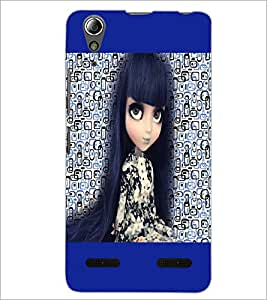 PrintDhaba Long Hair Doll D-5044 Back Case Cover for LENOVO A6000 PLUS (Multi-Coloured)