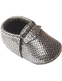HAPPY CHERRY Suaves Zapatos Primeros Pasos Zapatitos sin Cordones Suela Antideslizante Mocasines para Bebés Niños Niñas 11/12/13CM Talla 19/20/21